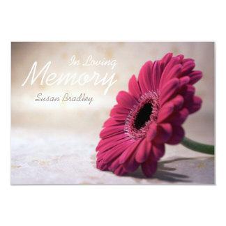 In Loving Memory - Floral Memorial Service 9 Cm X 13 Cm Invitation Card