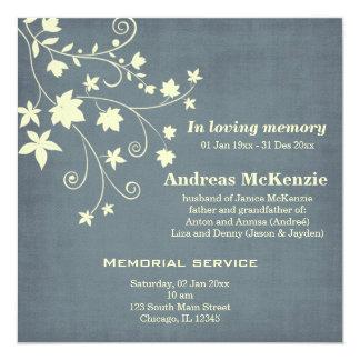 """In Loving Memory 5.25"""" Square Invitation Card"""