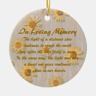 In Loving Memory Memorial Daisy Ornament