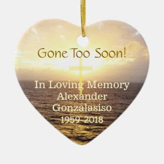 In Loving Memory Memorial-Holy Cross Ceramic Ornament