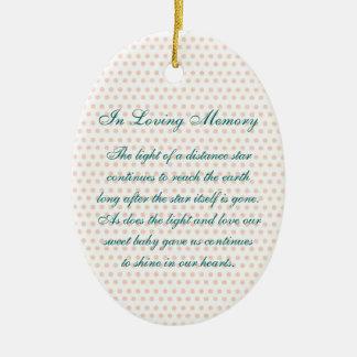In Loving Memory Oval Baby Girl's Death Memorial Ceramic Oval Decoration