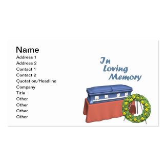 In Loving Memory Pack Of Standard Business Cards