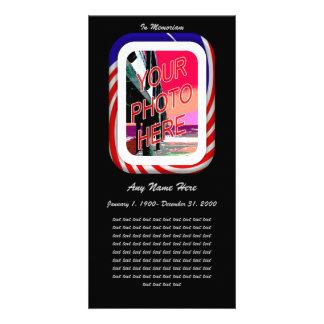In Loving Memory- Patriotic remembrance Photo Card