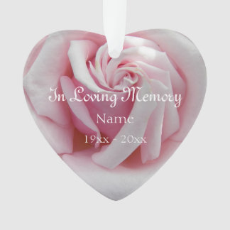 In Loving Memory Pink Rose Acrylic Ornament