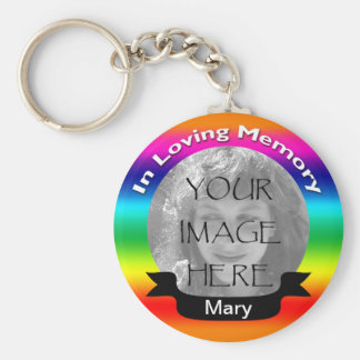 In Loving Memory Rainbow Photo Key Chain