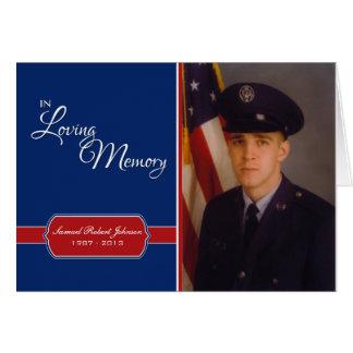 In Loving Memory, Red, White & Blue Custom Photo Card