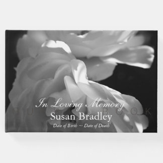 In Loving Memory Roses Funeral Guest Book