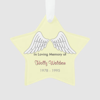 In loving memory Star Ornament