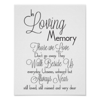 In Loving Memory Wedding Sign