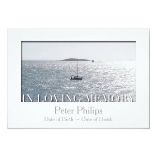 In Loving Memory White Frame Custom Celebration 9 Cm X 13 Cm Invitation Card