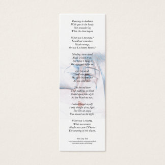In mad rage I was blind... poetry bookmark Mini Business Card