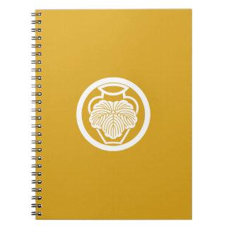 In medium flower in 壺 ivy notebooks