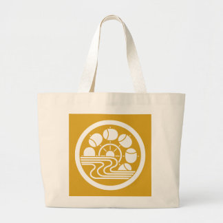 In medium flower in water hammer car large tote bag