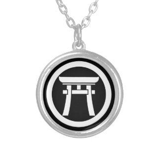 In medium flower Torii Silver Plated Necklace