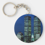 In Memoriam In memory of Twin Towers WTC NYC Basic Round Button Key Ring