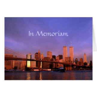 """""""in Memoriam"""" Twin Towers World Trade Center NYC Card"""