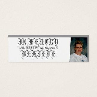 IN MEMORY-BELIEVE MINI BUSINESS CARD