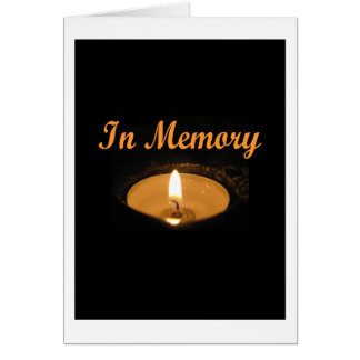 In Memory Candle Glow Card