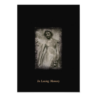 "In Memory  Funeral Memorial Announcement 5"" X 7"" Invitation Card"