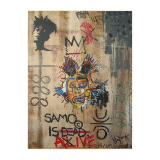 In MEMORY… neo Expressionism Wood Print