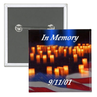 In Memory of 9/11! 15 Cm Square Badge