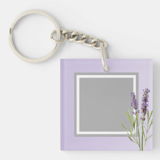 In Memory of a love one Custom Picture Double-Sided Square Acrylic Key Ring