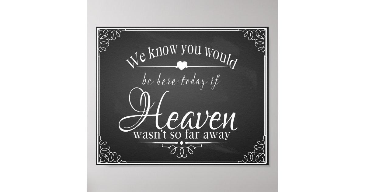In Memory Of A Loved One Chalkboard Wedding Print Zazzle