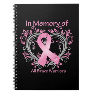 In Memory of All Brave Warriors Breast Cancer Notebook
