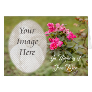 In Memory of Card with Roses and Photo
