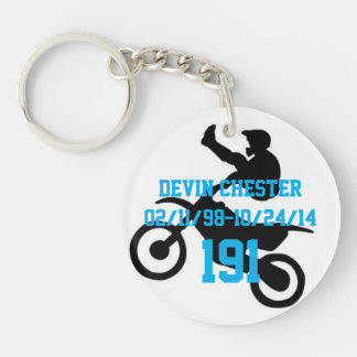 In memory of Devin Chester Double-Sided Round Acrylic Key Ring