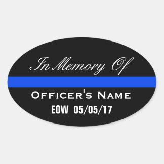 IN MEMORY OF FALLEN OFFICER THIN BLUE LINE STICKER