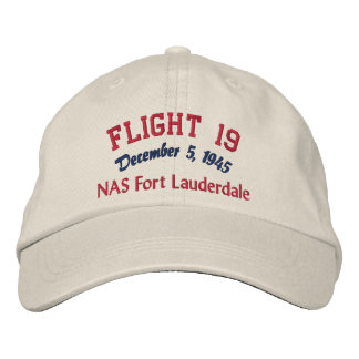 In Memory of Flight 19 Embroidered Hats