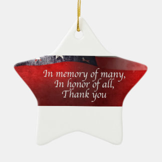 In Memory Of Many In Honor Of All Thank You Ceramic Ornament