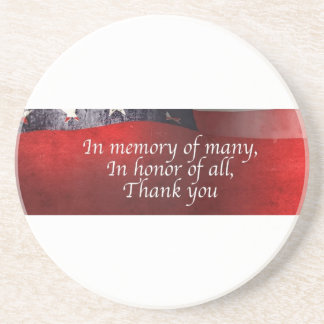 In Memory Of Many In Honor Of All Thank You Coaster