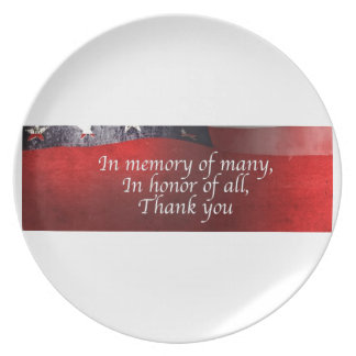 In Memory Of Many In Honor Of All Thank You Dinner Plates