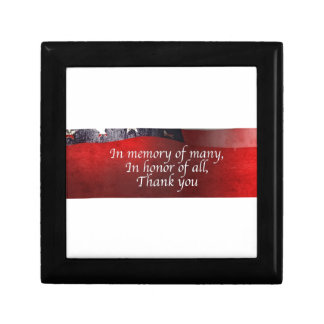In Memory Of Many In Honor Of All Thank You Gift Box
