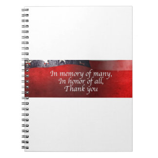 In Memory Of Many In Honor Of All Thank You Notebook