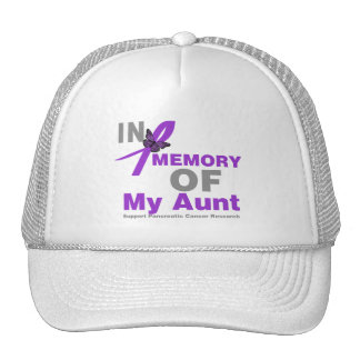 In Memory of My Aunt Pancreatic Cancer Mesh Hats
