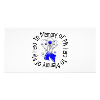 In Memory of My Hero ALS Angel Wings Photo Cards