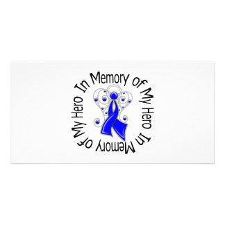 In Memory of My Hero Anal Cancer Angel Wings Photo Cards