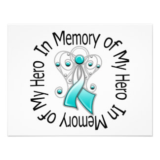 In Memory of My Hero Cervical Cancer Angel Wings Invite