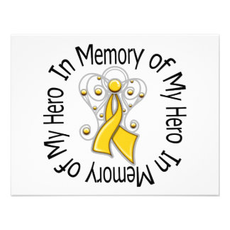 In Memory of My Hero Childhood Cancer Angel Wings Announcement