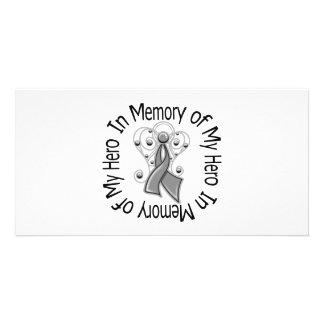 In Memory of My Hero Diabetes Angel Wings Photo Card Template