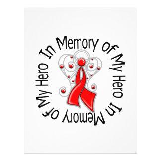 In Memory of My Hero Heart Disease Angel Wings 21.5 Cm X 28 Cm Flyer