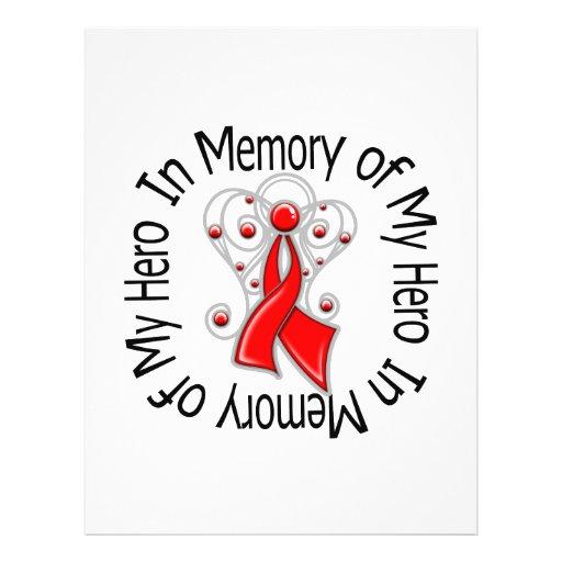 In Memory of My Hero Heart Disease Angel Wings Full Color Flyer