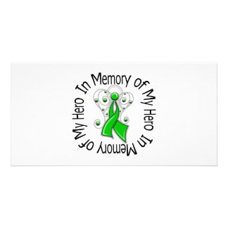 In Memory of My Hero Kidney Cancer Angel Wings Photo Cards