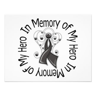 In Memory of My Hero Skin Cancer Angel Wings Personalized Invites