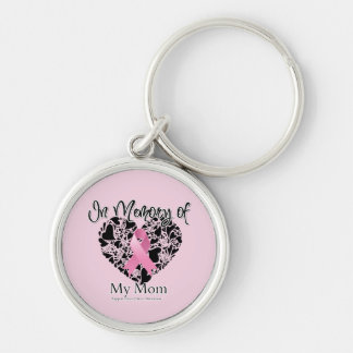 In Memory of My Mom - Breast Cancer Awareness Key Chain
