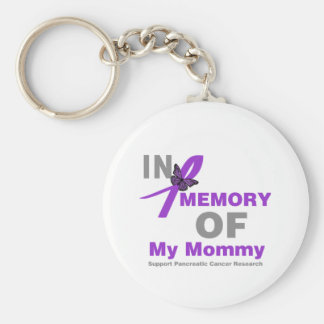In Memory of My Mommy Pancreatic Cancer Key Chain
