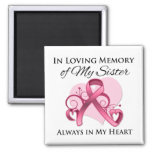 In Memory of My Sister - Breast Cancer Fridge Magnet